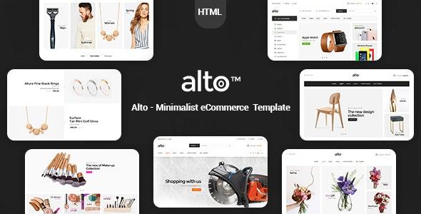 Alto - Minimal HTML Template - Shopping Retail