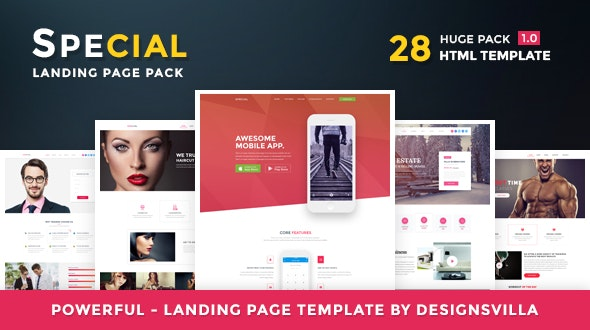 Special - Landing Page HTML Pack - Marketing Corporate