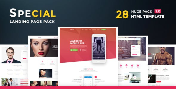 Special - Landing Page HTML Pack