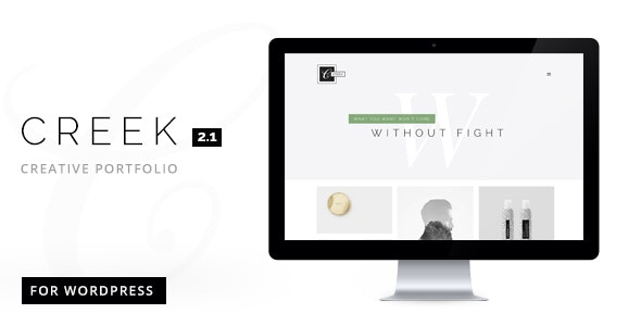 Creek Creative And Minimal WordPress Portfolio - Portfolio Creative