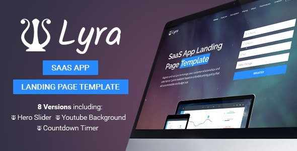 Lyra - SaaS App Landing Page Template - Software Technology