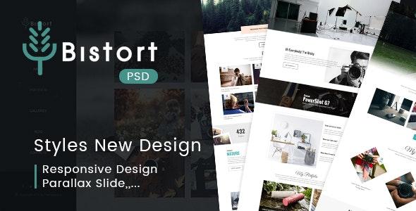 BISTORT - Creative Art Blog Multi-purpose PSD Template - Creative PSD Templates