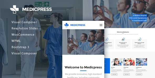 MedicPress - Health & Medical WordPress Theme - Business Corporate