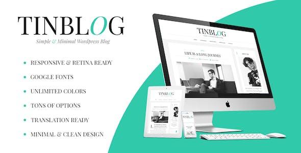 Tinblog - Minimal WordPress Blog Theme