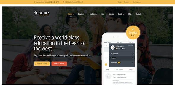 Edu Hub - College & Education PSD Template