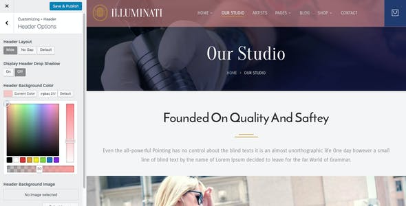 Illuminati - Tattoo Parlor WordPress Theme