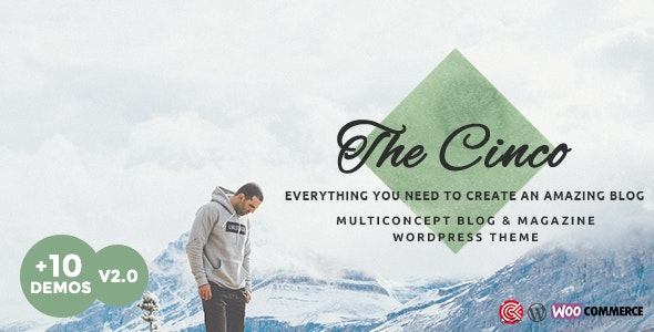Cinco - Multi-Concept Elegant WordPress Blog Theme - Personal Blog / Magazine
