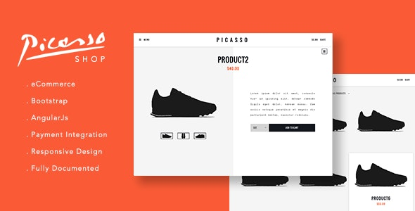 Picasso Shop - Site Templates