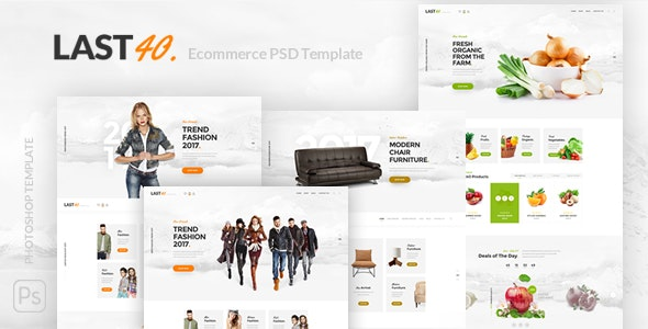 Last40 Store - Ecommerce PSD Template - Retail Photoshop