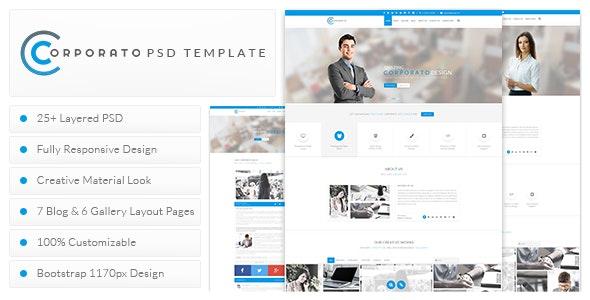 Corporato Business PSD Template - Corporate Photoshop