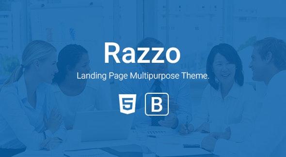 Razzo - Multipurpose Responsive Bootstrap Landing page htme - Landing Pages Marketing