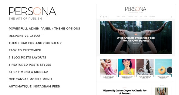 Persona - Life Style & Personal Blogger Template - Blogger Blogging