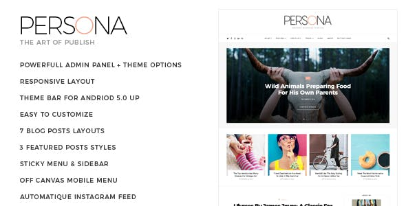 Persona - Life Style & Personal Blogger Template