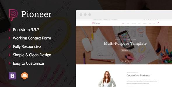 Pioneer - Multi-Purpose HTML 5 / CSS 3 Corporate Template - Business Corporate