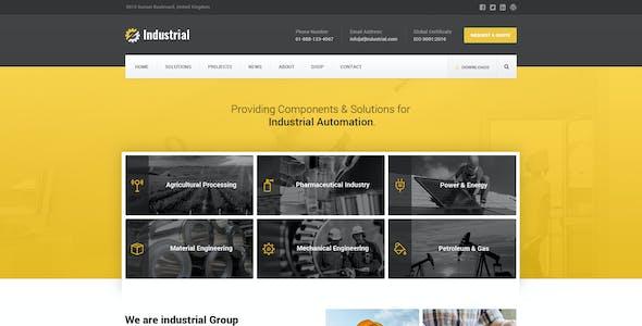 Industrial - Factory / Industry / Engineering PSD Template