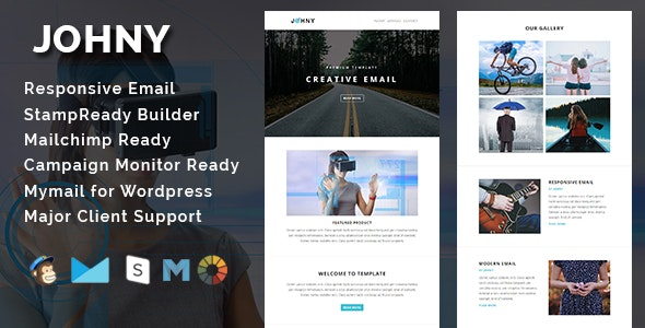 JOHNY - Multipurpose Responsive Email Template - Email Templates Marketing