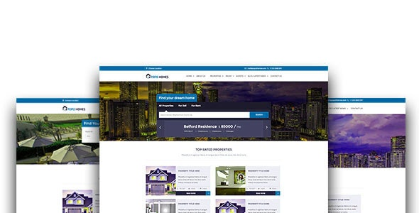 POPO Homes – Real Estate HTML Template - Business Corporate