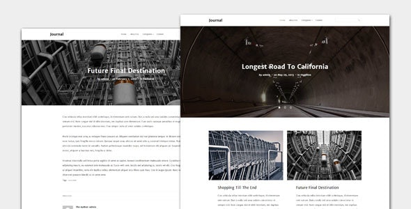 Journal - Blog and Magazine Theme - News / Editorial Blog / Magazine