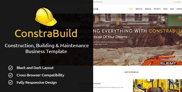ConstraBuild : Construction, Building & Maintenance Business Template - Business Corporate