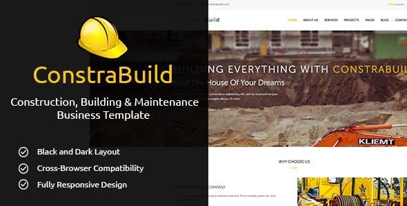 ConstraBuild : Construction, Building & Maintenance Business Template
