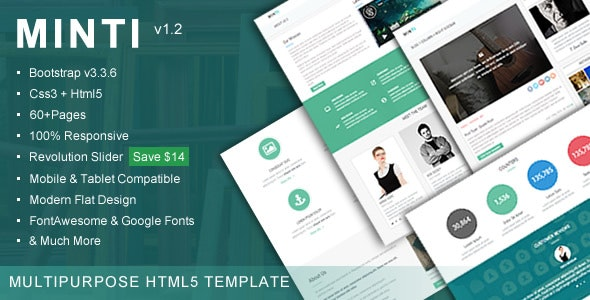 Minti - Responsive Multipurpose HTML5 Template - Corporate Site Templates