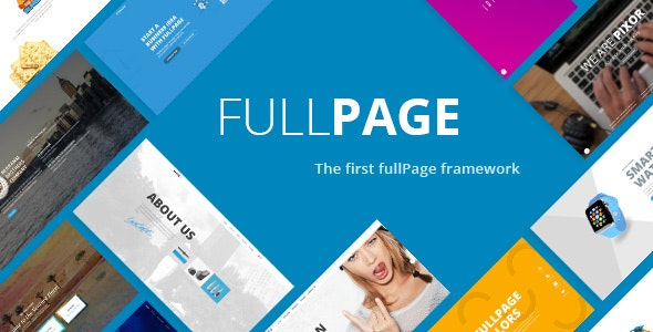 FullPage -  Fullscreen One Page Template - Business Corporate