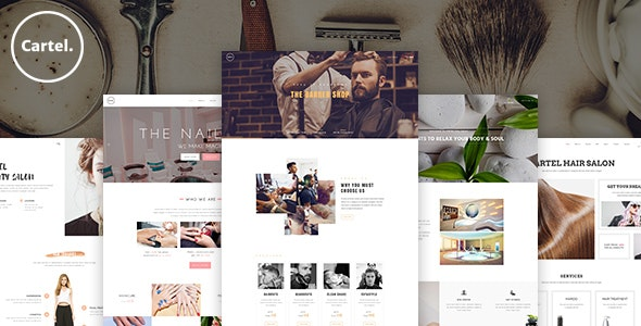 Cartel - Salon / Barber / Beauty eCommerce PSD Template - Health & Beauty Retail