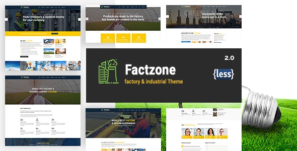 FactZone - Factory & Industrial Business Template - Business Corporate