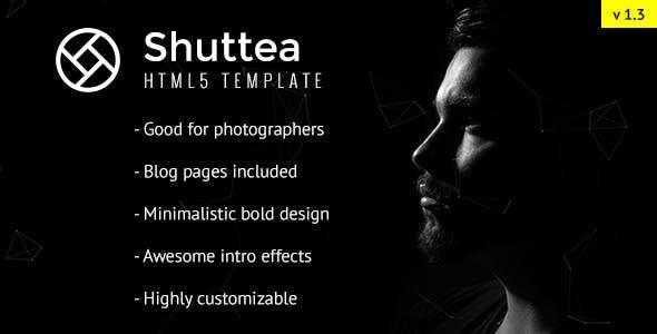 Shuttea - Portfolio/Blog Template for Photographers - HTML Template