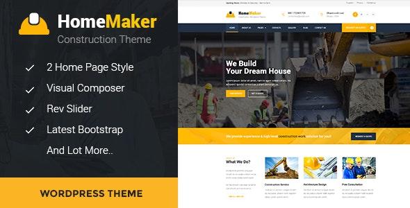 HomeMaker - Construction & Builder WordPress Theme - Business Corporate