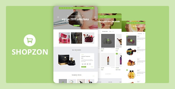 Shopzon - Cosmetic Store HTML Template - Health & Beauty Retail