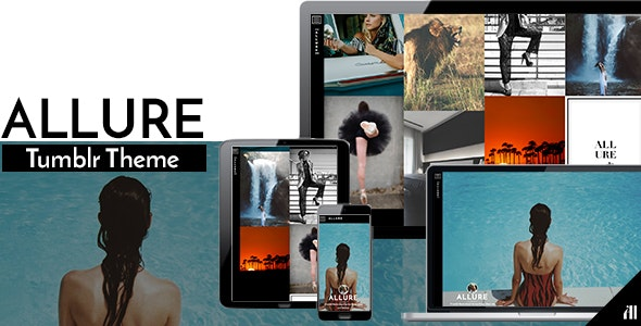 Allure - Visual Tumblr Theme - Portfolio Tumblr