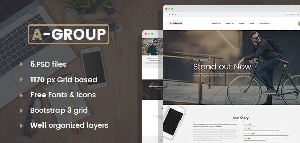 A-Group - Corporate & Business Company - Corporate Photoshop
