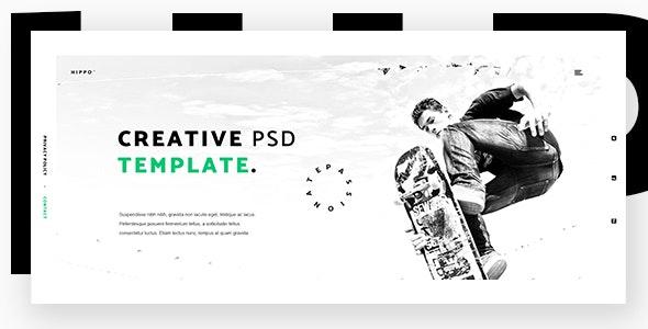 Hippo - Creative Agency PSD Template - Creative Photoshop