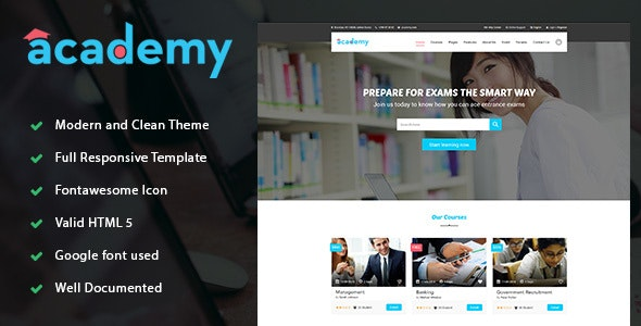 Academy - Education LMS Responsive Site Template - Business Corporate
