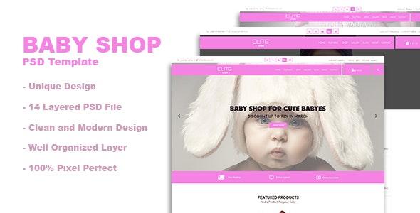 Baby Shop PSD Template - Children Retail