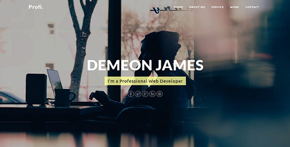 Profi - Personal Portfolio Template - Personal Site Templates
