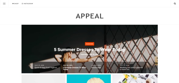 Appeal — A News, Blog, & Shop WordPress Theme - Blog / Magazine WordPress