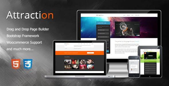 Attraction - Responsive WordPress Landing Page