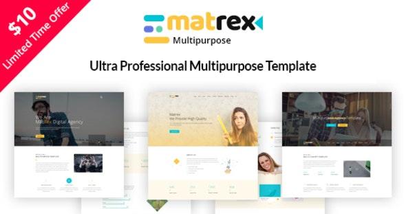 Matrex - Ultra Professional Multipurpose Template - Business Corporate