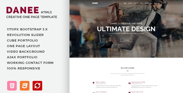 DANEE - Onepage HTML5 Template - Creative Site Templates