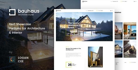Bauhaus | Architecture & Interior PSD Template - Creative Photoshop