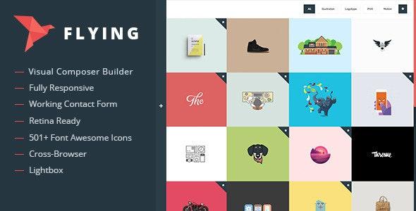 Flying - Interactive Portfolio WordPress Theme - Portfolio Creative