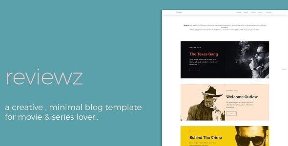 Reviewz - Responsive Film/Series Review Blog Template - Personal Site Templates