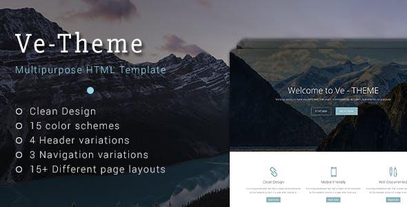 Ve-Theme - Multipurpose HTML Template