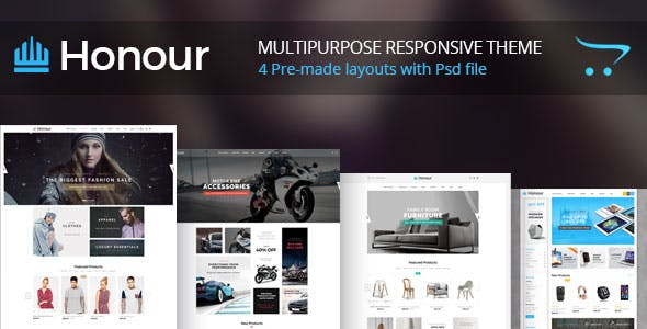 Honour - Multipurpose Responsive Opencart Theme   Fashion Furniture Auto & Electronics