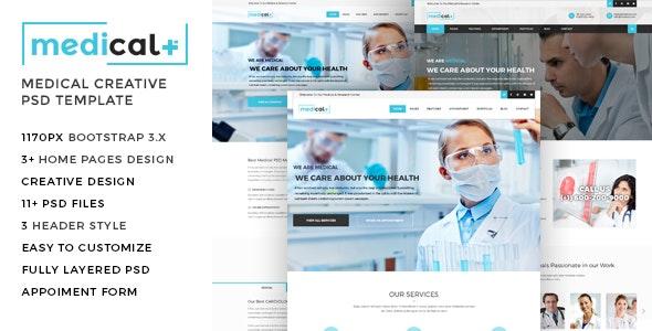 Medical - Health Care, Clinic PSD Template - Retail PSD Templates