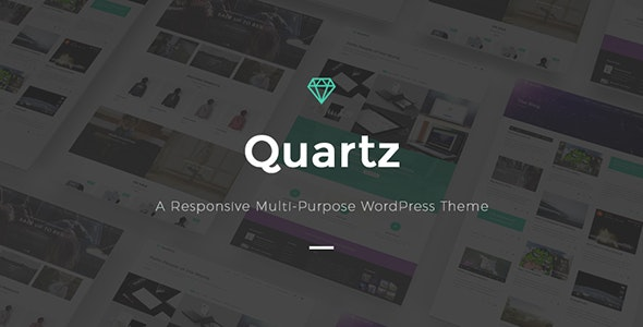 Quartz - A Responsive Multi-purpose WordPress Theme - Creative WordPress