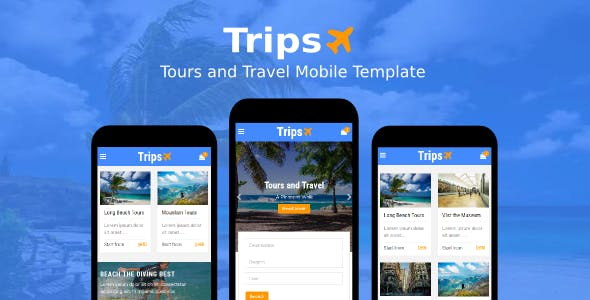 Trips - Tours and Travel Mobile Template