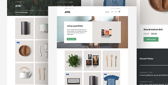 Atik - A Simple WordPress Theme for your Online Store - WooCommerce eCommerce